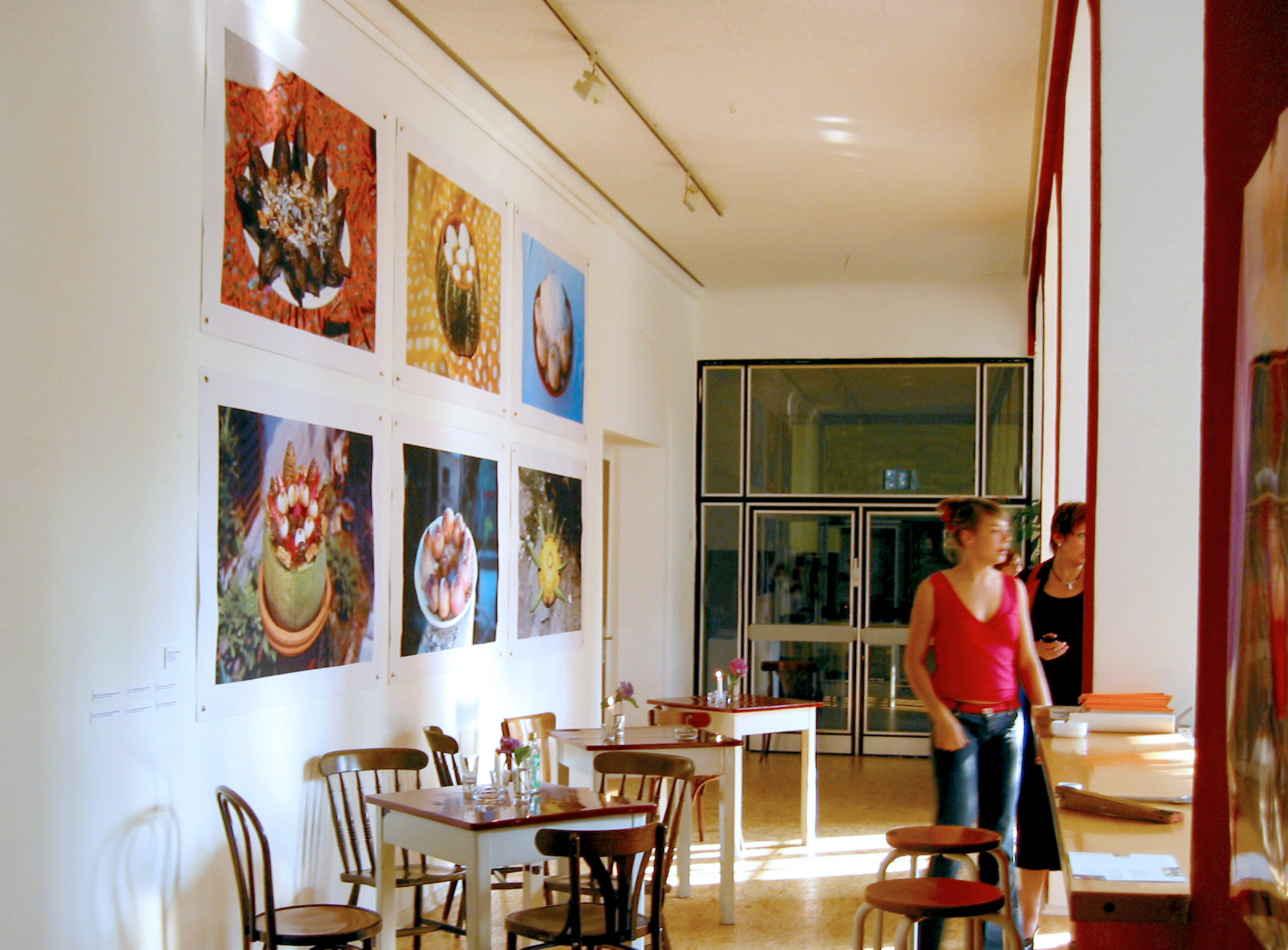 View of the photographic series Dishes for the Dead, as part of the Input exhibition, in Kunsthaus Essen, Germany, 2005
